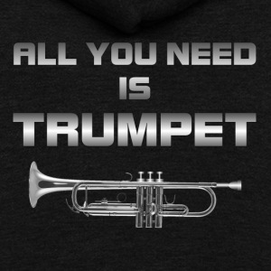 All you need is trumpet silver color - Unisex Fleece Zip Hoodie by American Apparel