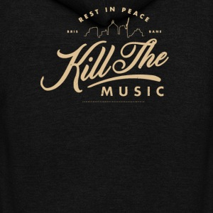 Rest in peace bris bane kill the music - Unisex Fleece Zip Hoodie by American Apparel