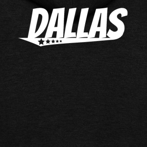 Dallas Retro Comic Book Style Logo - Unisex Fleece Zip Hoodie by American Apparel