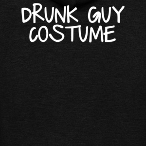 Drunk Guy Costume - Unisex Fleece Zip Hoodie by American Apparel
