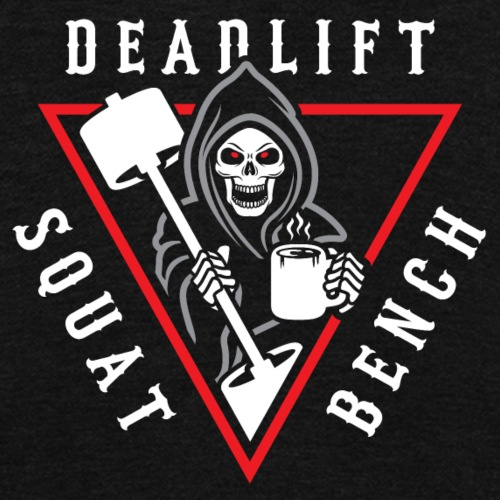 Squat Bench Deadlift Grim Reaper - Unisex Fleece Zip Hoodie