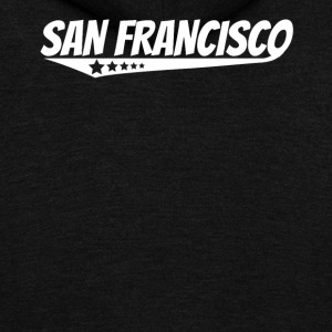San Francisco Retro Comic Book Style Logo - Unisex Fleece Zip Hoodie by American Apparel