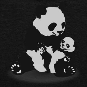 Panda & Baby Panda - Unisex Fleece Zip Hoodie by American Apparel