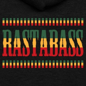 Reggae rastabass - Unisex Fleece Zip Hoodie by American Apparel