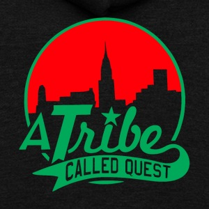 a_tribe_called_quest_green_red - Unisex Fleece Zip Hoodie by American Apparel
