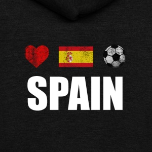 Spain Football Spaniard Soccer T-shirt - Unisex Fleece Zip Hoodie by American Apparel