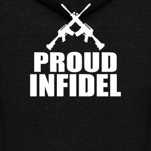 Proud Infidel - Unisex Fleece Zip Hoodie by American Apparel