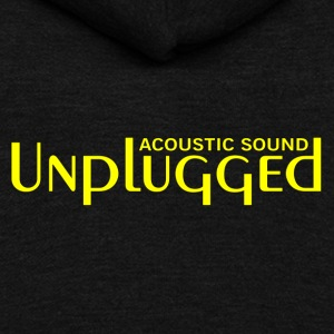 unplugged yellow - Unisex Fleece Zip Hoodie by American Apparel