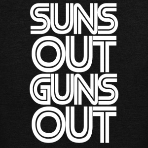 Suns Out Guns Out - Unisex Fleece Zip Hoodie by American Apparel