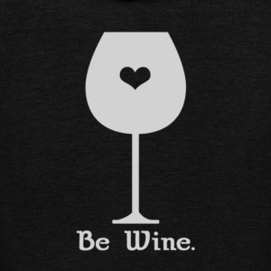 Be wine - Unisex Fleece Zip Hoodie by American Apparel