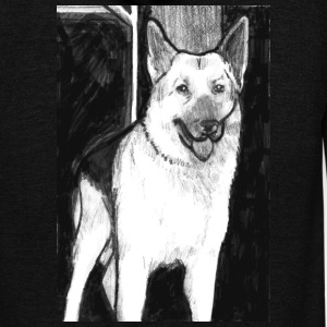 german shepherd - Unisex Fleece Zip Hoodie by American Apparel