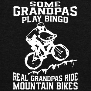 MTB Grandpa T Shirt - Unisex Fleece Zip Hoodie by American Apparel