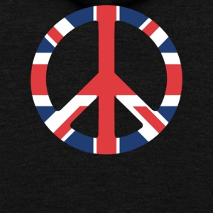 United Kingdom Peace Sign - Unisex Fleece Zip Hoodie by American Apparel