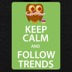 Keep Calm Trendy Bacon Owl - Unisex Fleece Zip Hoodie by American Apparel