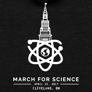 March for Science Shirt - Unisex Fleece Zip Hoodie by American Apparel