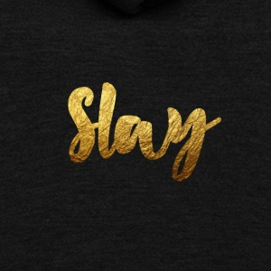 Slay Gold - Unisex Fleece Zip Hoodie by American Apparel
