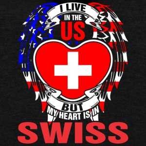 I Live In The Us But My Heart Is In Swiss - Unisex Fleece Zip Hoodie by American Apparel