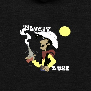 Lucky Luke, Poor Lonesome Cowboy! - Unisex Fleece Zip Hoodie by American Apparel
