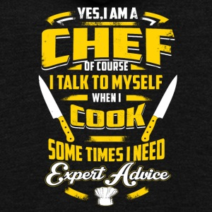 Chef Shirt - Unisex Fleece Zip Hoodie by American Apparel