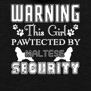 Maltese Security T-shirt - Unisex Fleece Zip Hoodie by American Apparel