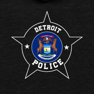 Detroit Police T Shirt - Michigan flag - Unisex Fleece Zip Hoodie by American Apparel
