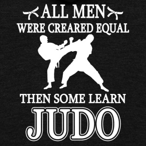 All Men Were Created Equal Then Some Learn Judo - Unisex Fleece Zip Hoodie by American Apparel