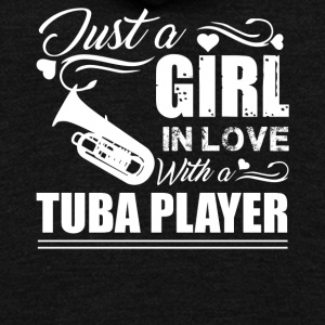 Girl In Love With Tuba Player - Unisex Fleece Zip Hoodie by American Apparel