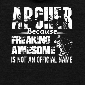 Awesome Archer Tee Shirt - Unisex Fleece Zip Hoodie by American Apparel