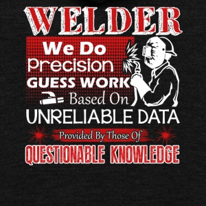 Welder We Do Precision Guess Work Shirt - Unisex Fleece Zip Hoodie by American Apparel