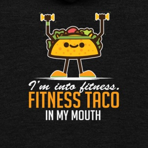 I'm Into Fitness Taco In My Mouth - Unisex Fleece Zip Hoodie by American Apparel