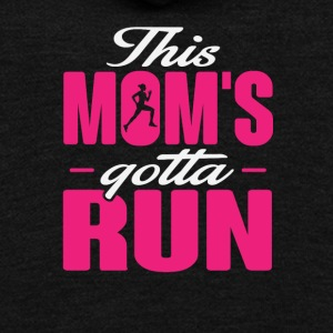 This Mom's Gotta Run - Unisex Fleece Zip Hoodie by American Apparel