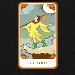 The Fool Tarot Card Tee Shirt - Unisex Fleece Zip Hoodie by American Apparel