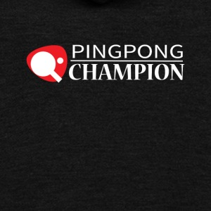 Ping Pong Champion Graphic Tee Shirt - Unisex Fleece Zip Hoodie by American Apparel