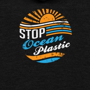 Stop Ocean Plastic - Unisex Fleece Zip Hoodie by American Apparel