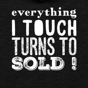 Everything I touch turns to sold - Unisex Fleece Zip Hoodie by American Apparel