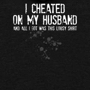 I Cheated On My Husband - Unisex Fleece Zip Hoodie by American Apparel