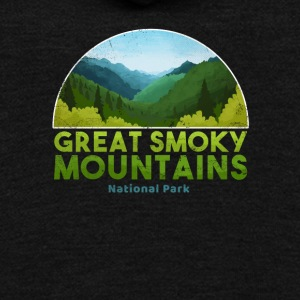 Great Smoky Mountain National Park T shirt Hiking - Unisex Fleece Zip Hoodie by American Apparel