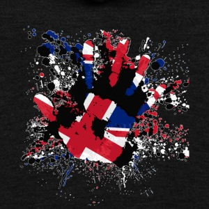 Union Jack Splatter - Unisex Fleece Zip Hoodie by American Apparel