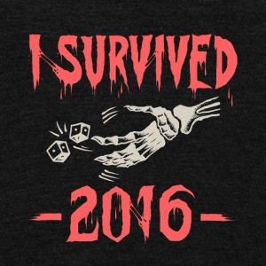 I survived 2016 - Unisex Fleece Zip Hoodie by American Apparel