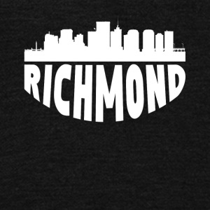 Richmond VA Cityscape Skyline - Unisex Fleece Zip Hoodie by American Apparel