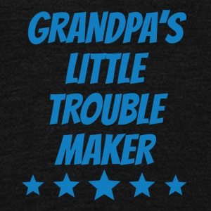 Grandpa's Little Trouble Maker - Unisex Fleece Zip Hoodie by American Apparel