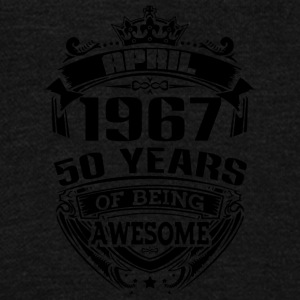 april 1967 50 years of being awesome - Unisex Fleece Zip Hoodie by American Apparel