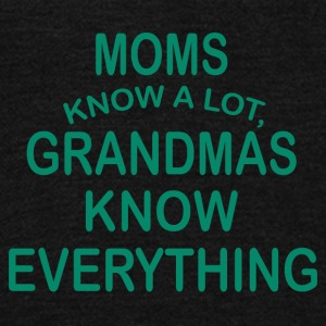 grandmas know everything - Unisex Fleece Zip Hoodie by American Apparel