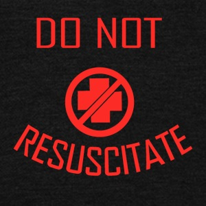 do not resuscitate - Unisex Fleece Zip Hoodie by American Apparel