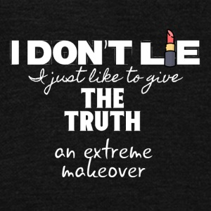 I don't lie I just give the truth a makeover - Unisex Fleece Zip Hoodie by American Apparel