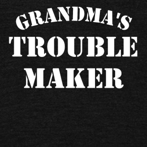 Grandma's Trouble Maker - Unisex Fleece Zip Hoodie by American Apparel