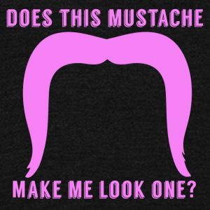 Does This Mustache Make Me Look One First Birthday - Unisex Fleece Zip Hoodie by American Apparel