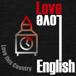 Love English, love England - Unisex Fleece Zip Hoodie by American Apparel