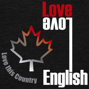 Love English, love Canada - Unisex Fleece Zip Hoodie by American Apparel