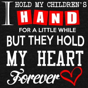 MY CHILDREN HOLD MY HEART FOREVER T Shirt - Unisex Fleece Zip Hoodie by American Apparel